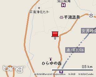 アルプス街道平湯の地図